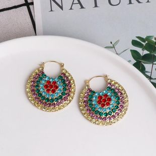 Hot sale new earrings retro ladies full diamond earrings wholesale NHJJ190964's discount tags