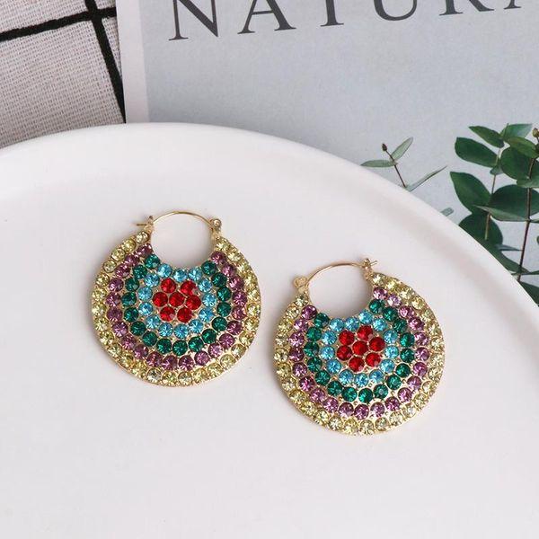 Hot sale new earrings retro ladies full diamond earrings wholesale NHJJ190964
