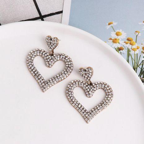 Nuevos pendientes simétricos en forma de corazón con micro diamantes NHJJ190965's discount tags