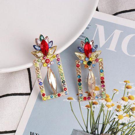 Nueva Moda Mujer Pendientes Con Diamantes Geométricos Pendientes Cuadrados Pendientes Simples NHJJ190966's discount tags