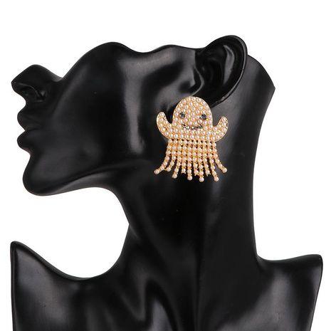 Pendientes de perlas Espárragos de cara fantasma Pendientes de moda NHJJ190969's discount tags