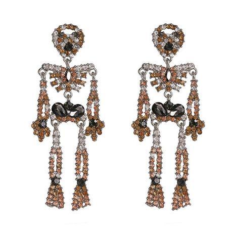 Pendientes de hueso Pendientes de diamantes tricolor de moda NHJJ190970's discount tags