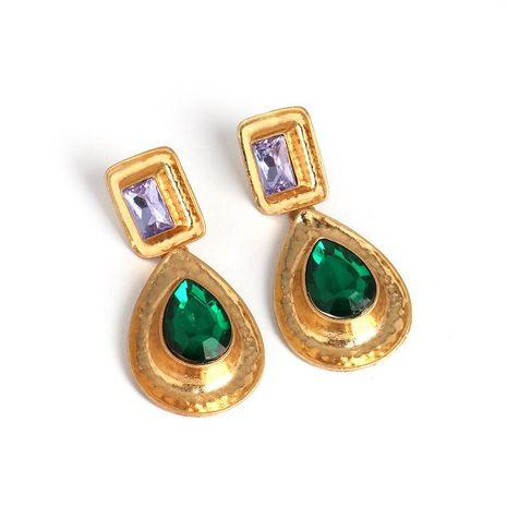 Venta caliente nuevos pendientes en forma de pera pendientes de esmeralda NHJJ190973's discount tags