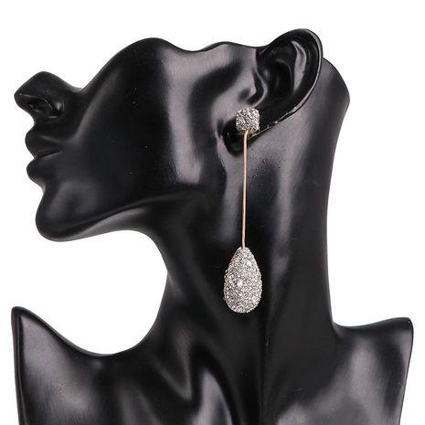 Aretes largos de mujer con aretes de diamantes NHJJ190974's discount tags
