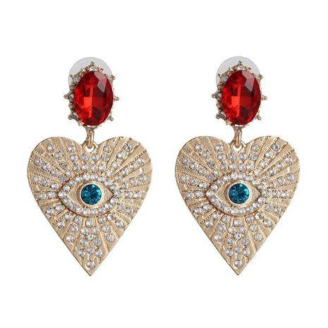 Nuevos pendientes de la joyería del corazón de la manera Pendientes creativos de la joyería del ojo del diamante NHJJ190981's discount tags