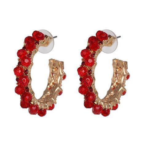 Pendientes de diamantes geométricos en forma de C con diamantes completos joyas de orejas retro femeninas al por mayor NHJJ190988's discount tags