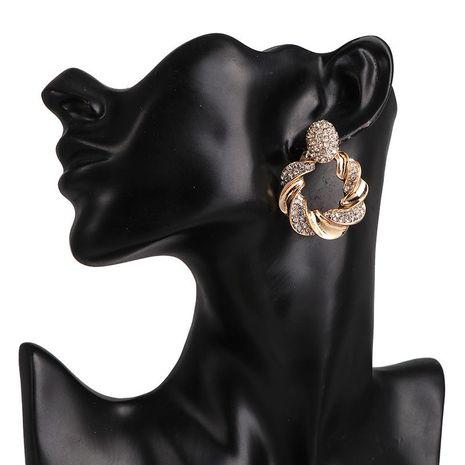 Pendientes de botón de círculo grueso simple pendientes de diamantes mujeres NHJJ190990's discount tags