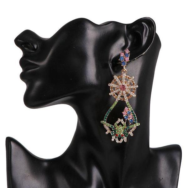 Earrings Girl's Heart Korean New Color Diamond Earrings NHJJ190997