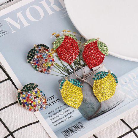Pendientes de diamantes de colores pendientes de fruta de limón al por mayor NHJJ191000's discount tags