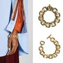 Vintage alloy chain bracelet female geometric metal bracelet accessories wholesale NHJJ191007