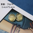 NHOM523007-Transparent-resin-gold-wire-ear-clip