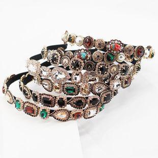 New Fashion Baroque Gemstone Diamond Heart Shaped Hair Headband Casual Prom Retro Hair Accessories NHWJ191024's discount tags