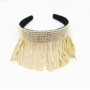 New Baroque Fashion Tassel Rhinestone Pearl Hair Band Bridal Hair Accessories NHWJ191027