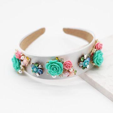 Nueva flor de moda Geometric Hairband Porcelana Flor Ball Casual Girl Gift Accesorios para el cabello NHWJ191029