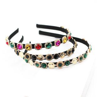 New Baroque Rhinestone Geometric Casual Headband Color Diamond Gift Prom Hair Accessories NHWJ191032's discount tags