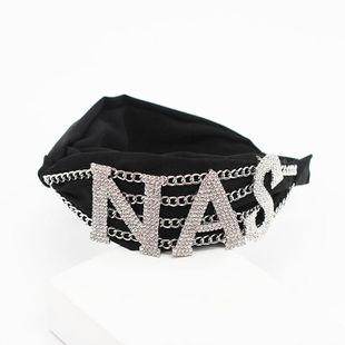 New fashion letter chain wild headband prom street shooting hair accessories NHWJ191039's discount tags