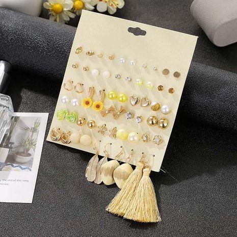 Aretes de borla con pendientes de bohemia mujer combinación de joyas NHSD191046's discount tags