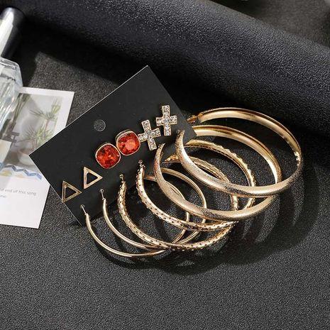Aretes simple conjunto de joyas exageradas círculo grande pendientes de seis piezas NHSD191054's discount tags