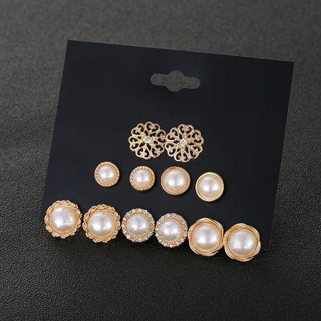 New earrings pearl earrings set female Korean ear jewelry NHSD191055's discount tags