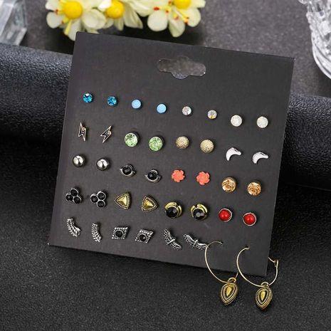 Pendientes de perlas de ala de diamantes de imitación de 20 pares populares Pendientes de tarjeta NHSD191056's discount tags