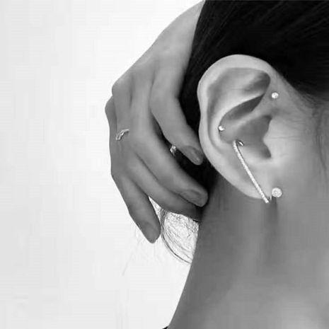 Aretes de diamantes de imitación personalidad femenina pendientes de diamantes metálicos irregulares NHYQ191071's discount tags
