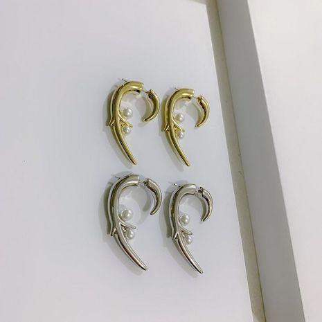 Aretes de perlas de espina rosa perla pendientes de moda personalizados NHYQ191072's discount tags