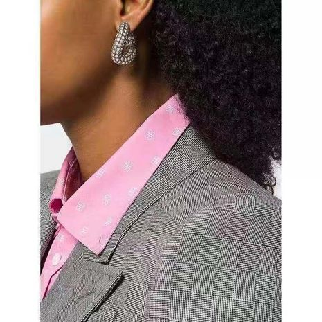 Women's twisted oval earrings NHYQ191078's discount tags