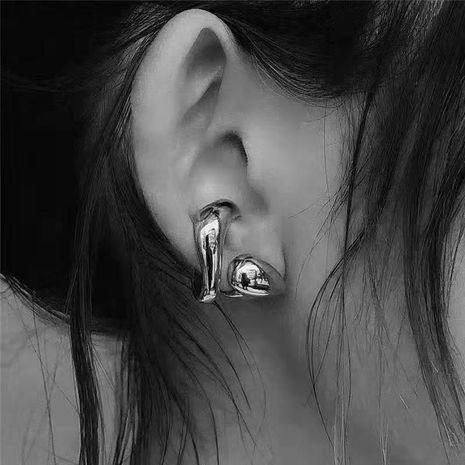 Envoltura de ratán simple de metal, hojas, clip de hueso de oreja, aretes, anillo de cola abierta NHYQ191090's discount tags