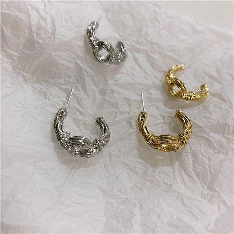 Aretes geométricos simples Pendientes de plata vintage NHYQ191115's discount tags