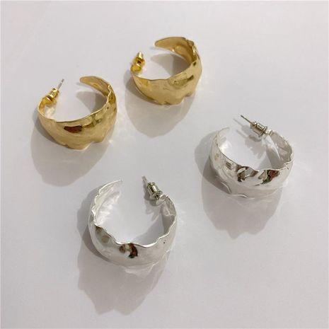 Pendientes de círculo mate plegado vintage NHYQ191158's discount tags
