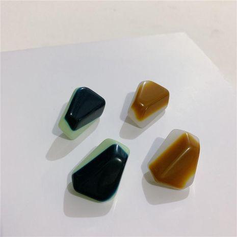 Aretes pequeños bloques de azúcar 925 pendientes de plata pendientes minimalistas irregulares NHYQ191159's discount tags