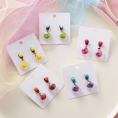 Earrings sweet beads hemisphere fruit NHMS191179's discount tags