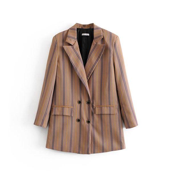 Wholesale striped women's suit blazer NHAM184143