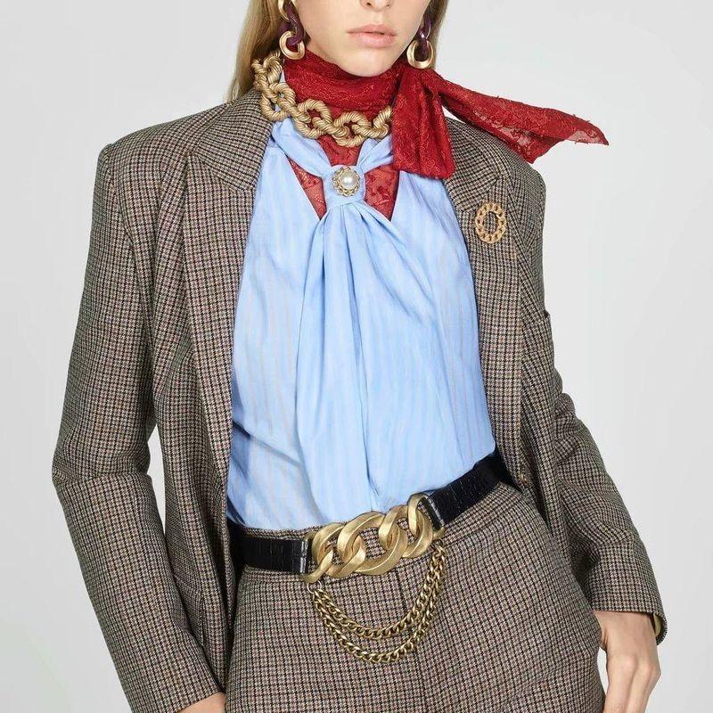 Wholesale winter grid children's slim blazer NHAM184153