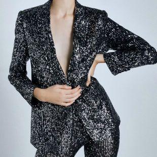 Wholesale Winter Slim Beaded Women's Blazer NHAM184205's discount tags