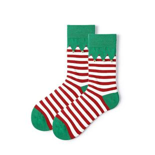 Christmas socks women small bells striped stockings autumn and winter cotton socks wholesale NHQY184374's discount tags