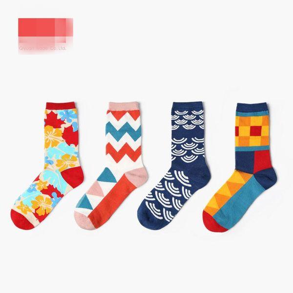 Autumn and winter new socks female happy socks personality couple socks men socks cotton stockings wholesale NHQY184378