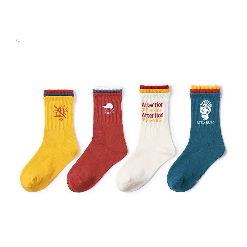 Three-color socks cotton socks ladies stockings women tide socks wholesale NHQY184380