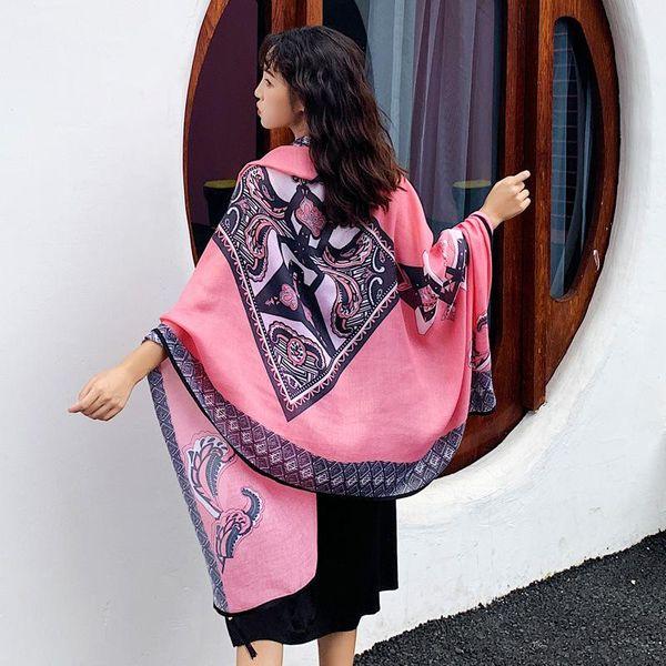 New silk scarf thin sunscreen shawl women wild seaside scarf large beach towel long scarf NHTZ184209