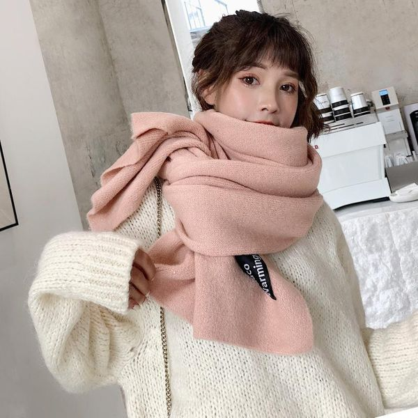 Student avocado warm knitted scarf chic lady winter scarf shawl NHTZ184207
