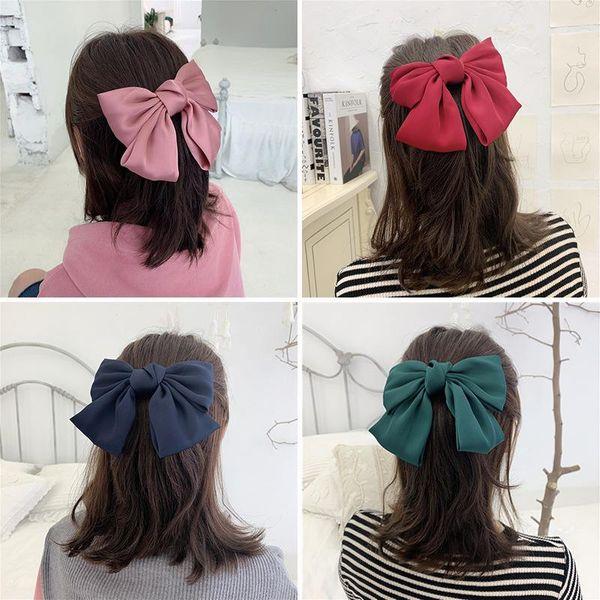 Gorgeous Satin Oversized Double Bow Hair Clip Korean Hair Accessories New NHOF184255