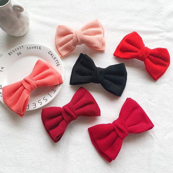 Color puro lana primavera clip niña lana hecha a mano NHOF184259