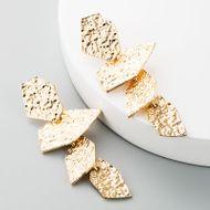 Retro fashion earrings personality long stud alloy gold earrings irregular polygon tassel earrings NHLN184131