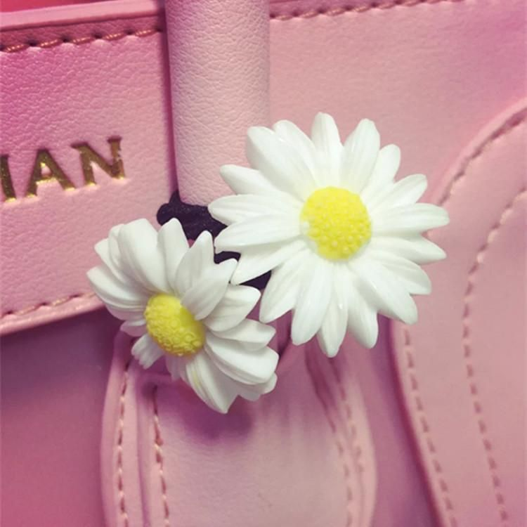 Korean hair accessories cute soft girl flowers small daisy hair ring hair rope NHSM184397