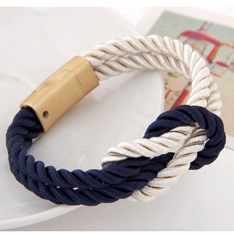 Trendy Joker Braided Iron Bracelet NHSC184416's discount tags
