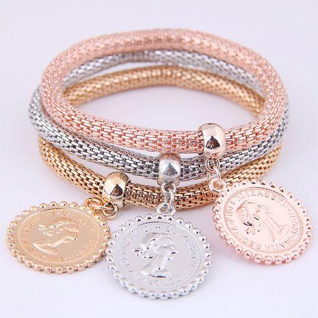 Simple tri-color auspicious tree pendant tri-color corn chain multi-layer bracelet NHSC184417's discount tags