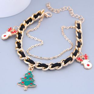 Metal Christmas Pendant Pendant Metal Braided Temperament Bracelet NHSC184420's discount tags