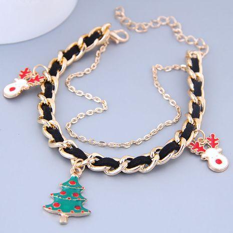 Metal Christmas Pendant Pendant Metal Braided Temperament Bracelet NHSC184420's discount tags