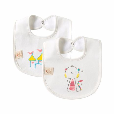Baby bib cotton waterproof saliva towel newborn baby child printed anti-vomiting cotton bib rice bib NHQE184329's discount tags