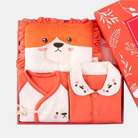 Newborn Gift Box Baby Clothes 0-3 Months 6 Cotton Set NHQE184406's discount tags